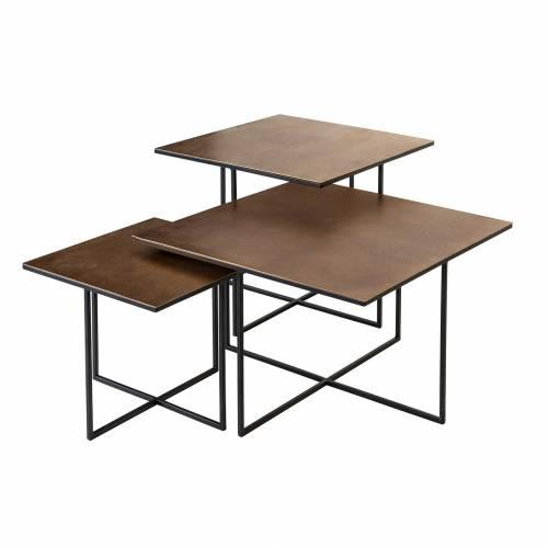 Table de salon Lio set de 3 Tables basses rectangulaires - 24