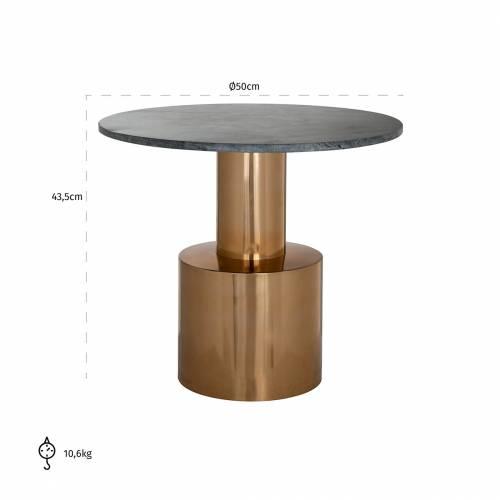 Table d'angle Hogan 50Ø Meuble Déco Tendance - 476