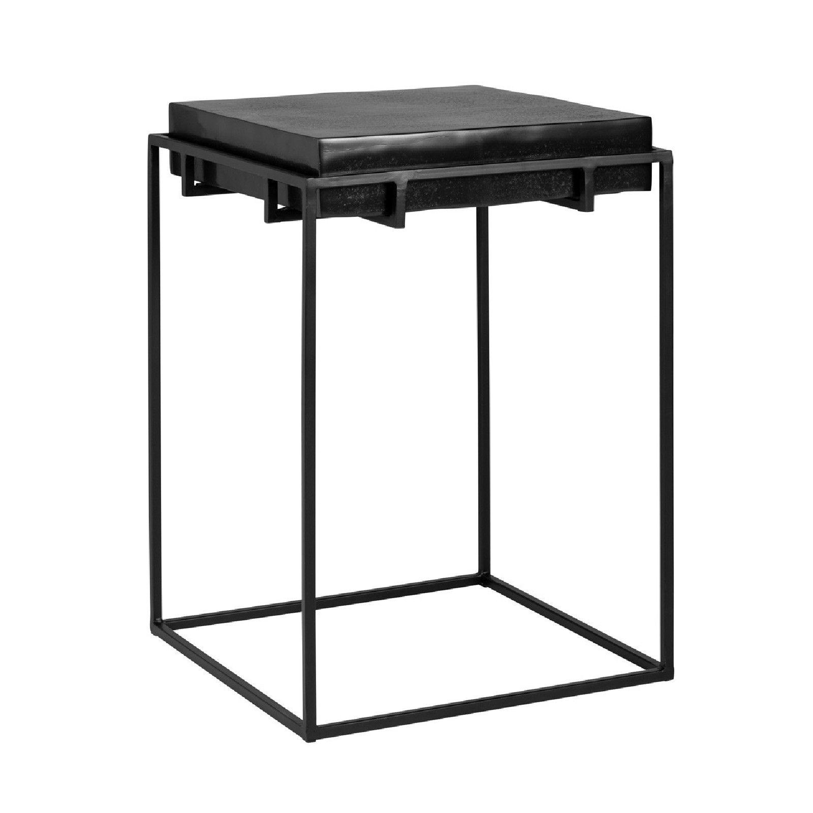 Table d'angle Bolder aluminium noir Meuble Déco Tendance - 802