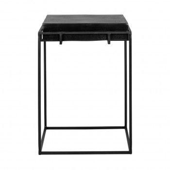 Table d'angle Bolder aluminium noir Meuble Déco Tendance - 825