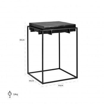 Table d'angle Bolder aluminium noir Meuble Déco Tendance - 833