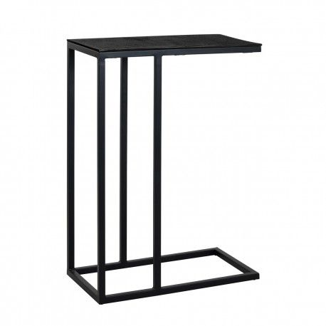 Table d'appoint Bolder aluminium noir