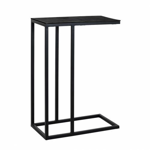 Table d'appoint Bolder aluminium noir Meuble Déco Tendance - 356