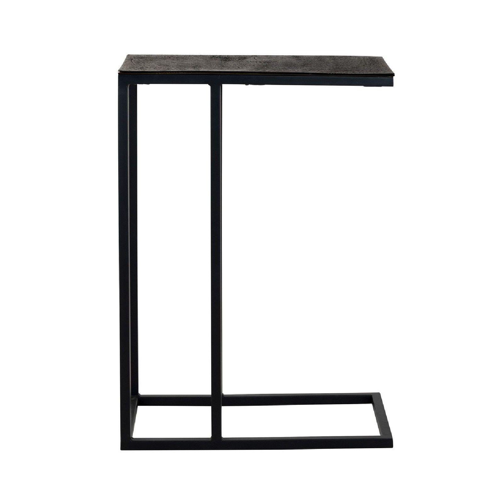 Table d'appoint Bolder aluminium noir Meuble Déco Tendance - 824