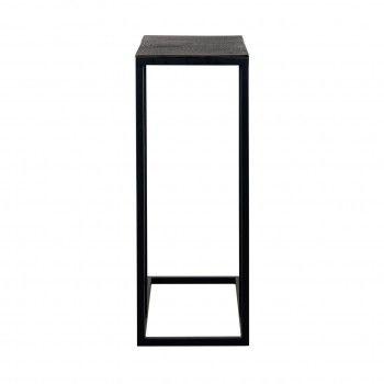 Table d'appoint Bolder aluminium noir Meuble Déco Tendance - 831