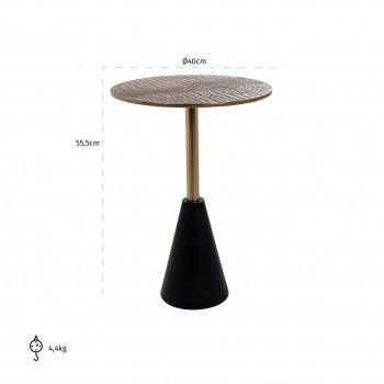 Table d'angle Cobra 40Ø Meuble Déco Tendance - 542