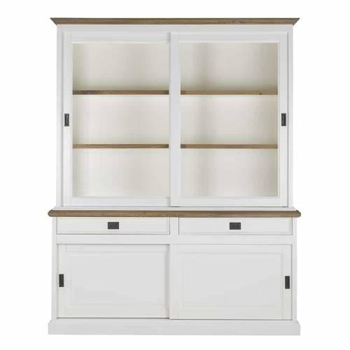 Buffet Vaisselier vitré Cardiff 2x2-deuren 2-tiroirs + Oak Meuble Déco Tendance - 1