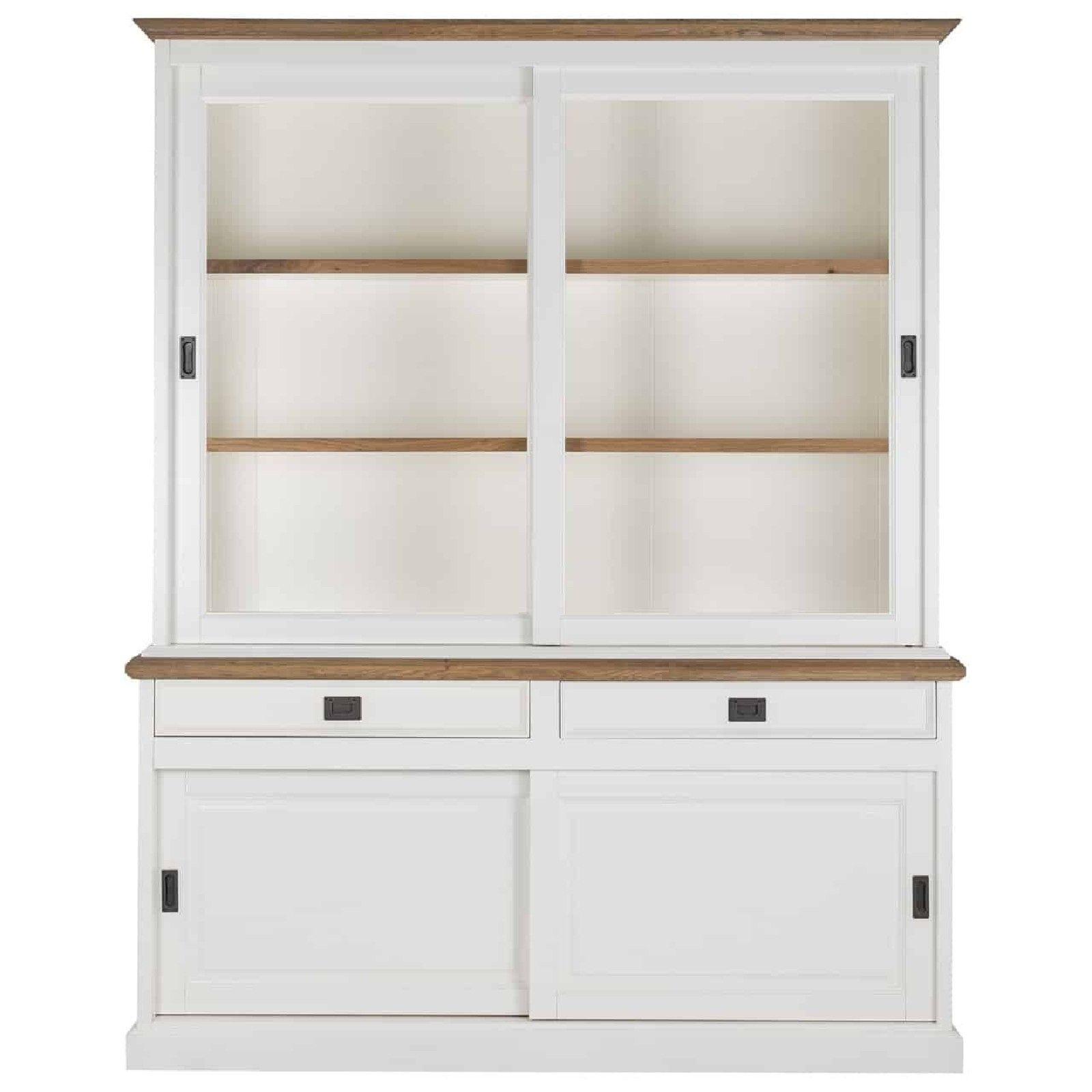 Buffet Vaisselier vitré Cardiff 2x2-deuren 2-tiroirs + Oak Meuble Déco Tendance - 30
