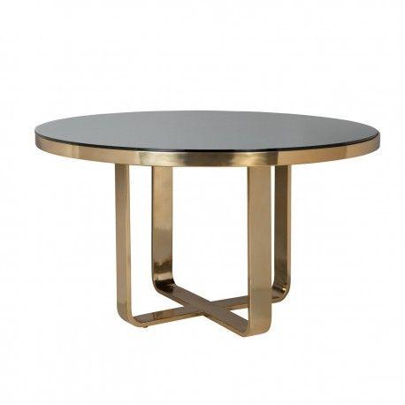 Table à dîner Vendôme round 140Ø incl. verre