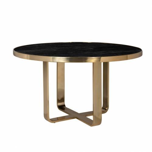Table à dîner Vendôme round 140Ø incl. verre Meuble Déco Tendance - 148