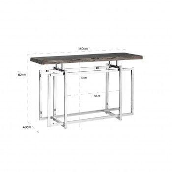 Console TuxedoBord du plateau de table peut varier par article, produit naturel Meuble Déco Tendance - 168