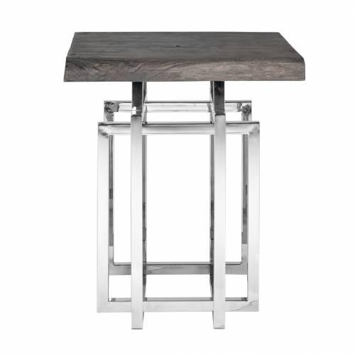 Table d'angle TuxedoBord du plateau de table peut varier par article, produit naturel Meuble Déco Tendance - 107