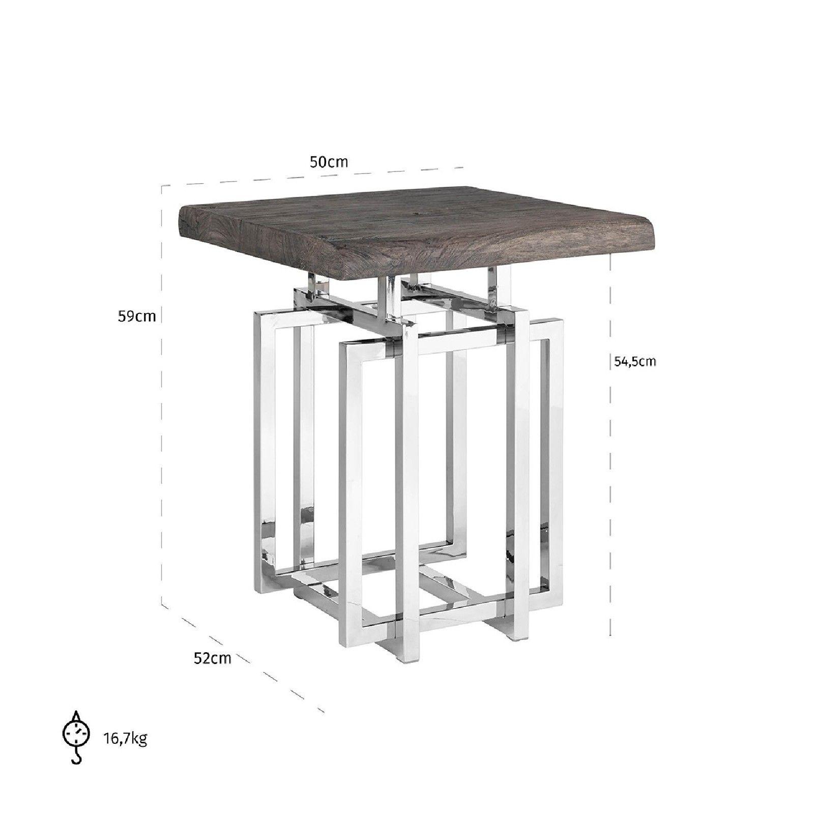 Table d'angle TuxedoBord du plateau de table peut varier par article, produit naturel Meuble Déco Tendance - 149