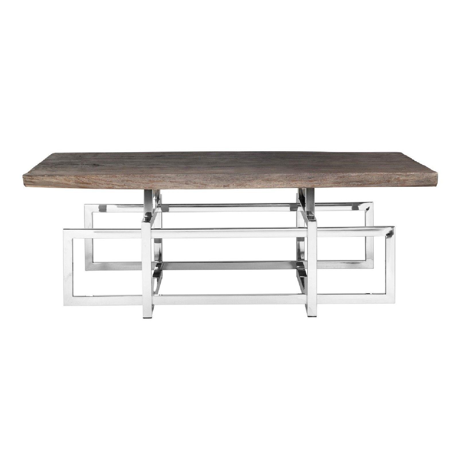 Table de salon TuxedoBord du plateau de table peut varier par article, produit naturel Tables basses rectangulaires - 66