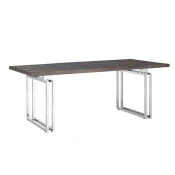 Table à dîner Tuxedo 200Bord du plateau de table peut varier par article, produit naturel Meuble Déco Tendance - 43