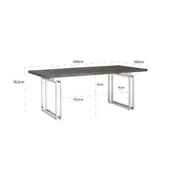 Table à dîner Tuxedo 200Bord du plateau de table peut varier par article, produit naturel Meuble Déco Tendance - 156