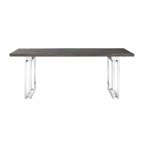 Table à dîner Tuxedo 230Bord du plateau de table peut varier par article, produit naturel Meuble Déco Tendance - 100