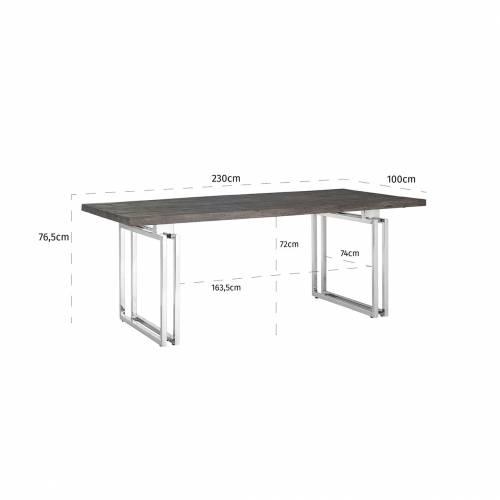 Table à dîner Tuxedo 230Bord du plateau de table peut varier par article, produit naturel Meuble Déco Tendance - 144