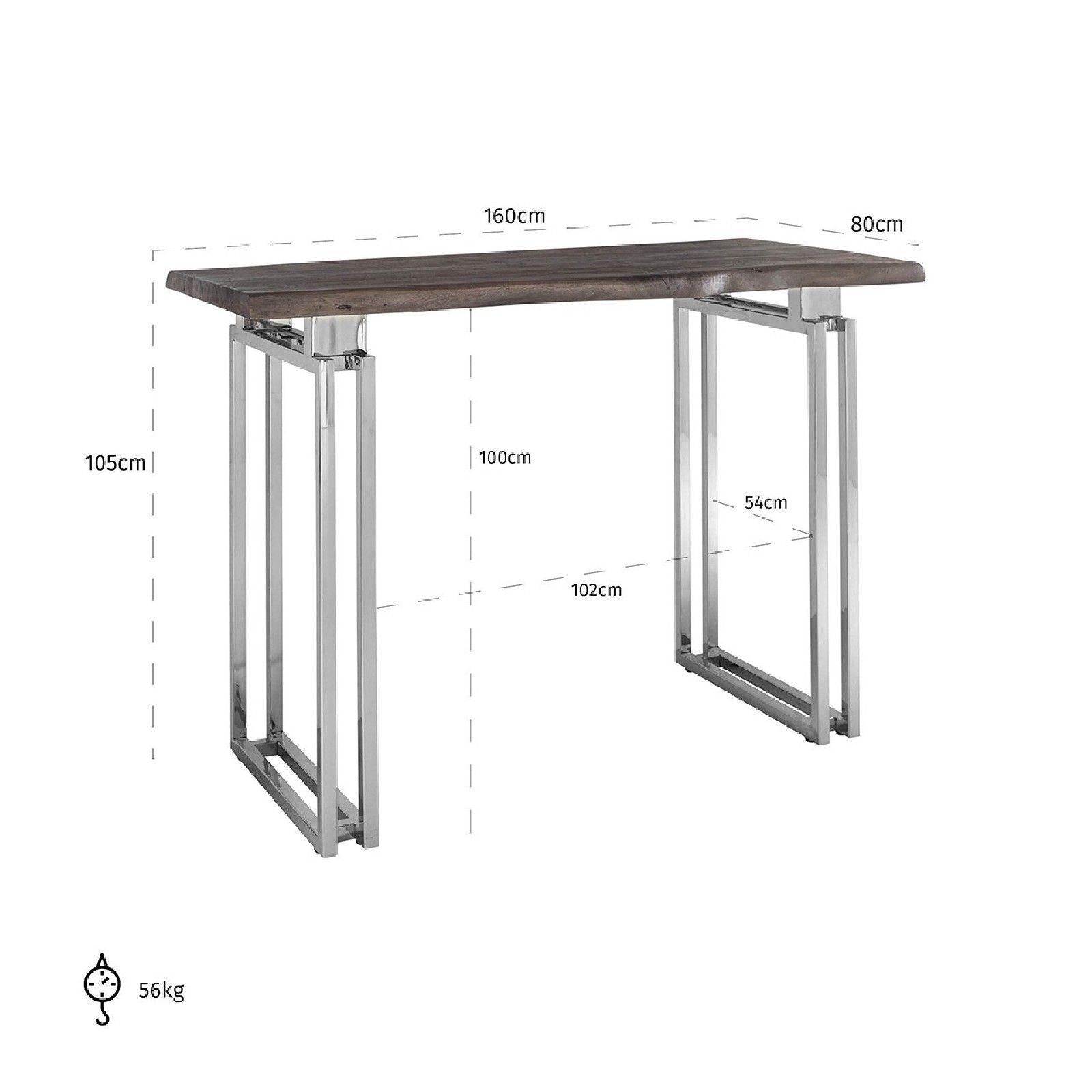 Table bistro TuxedoBord du plateau de table peut varier par article, produit naturel Meuble Déco Tendance - 162