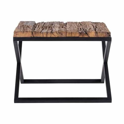 Table d'angle Industrial Kensington 60x60 Meuble Déco Tendance - 102