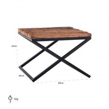 Table d'angle Industrial Kensington 60x60 Meuble Déco Tendance - 145