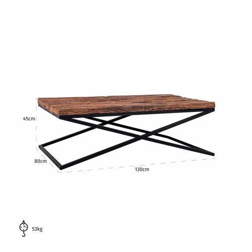 Table de salon Industrial Kensington Tables basses rectangulaires - 68