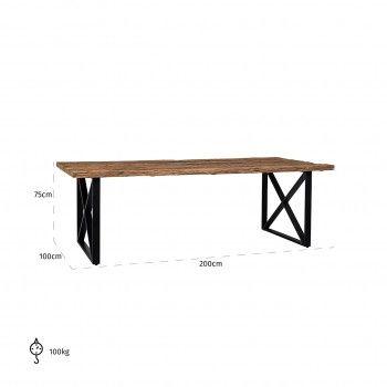 Table à dîner Industrial Kensington 200 Meuble Déco Tendance - 4
