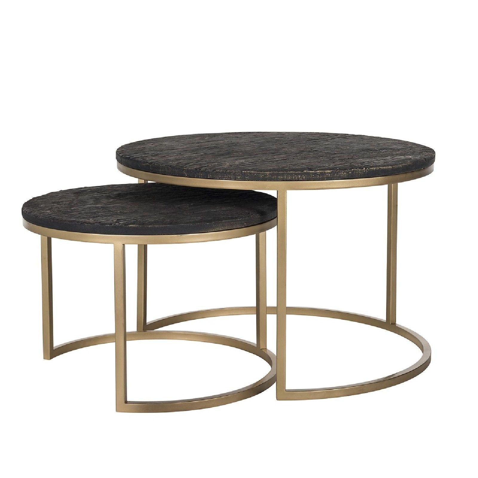 Table de salon Belfort set de 2 rond Tables basses rondes - 17