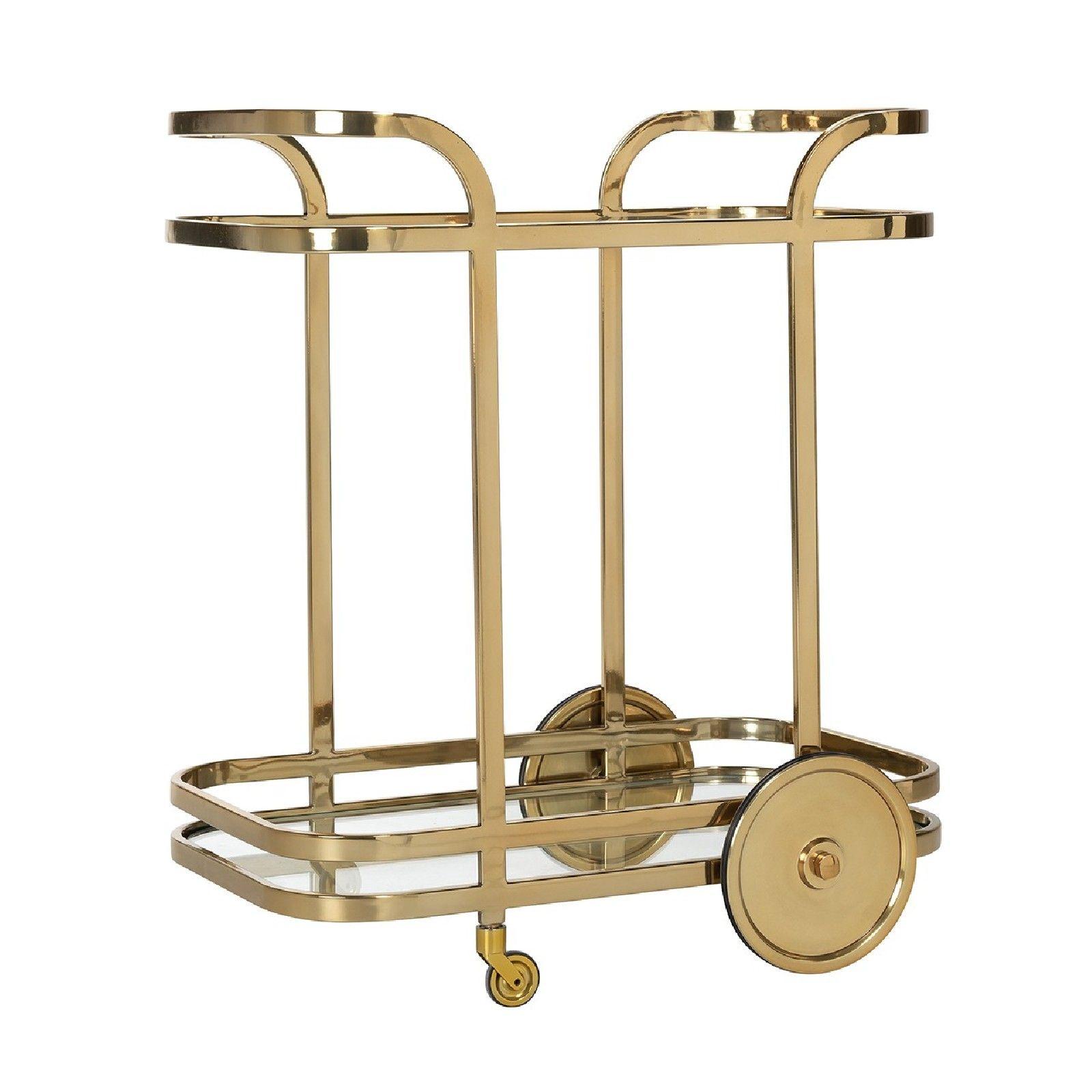 Trolley X.O. gold  avec verre Meuble Déco Tendance - 21