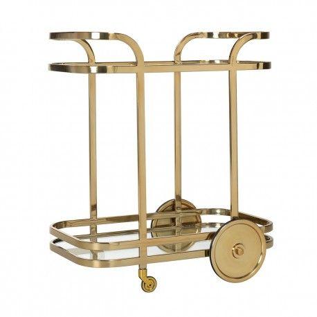Trolley X.O. gold  avec verre