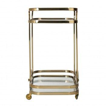 Trolley X.O. gold  avec verre Meuble Déco Tendance - 50