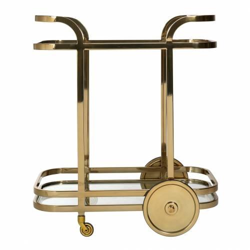Trolley X.O. gold  avec verre Meuble Déco Tendance - 96