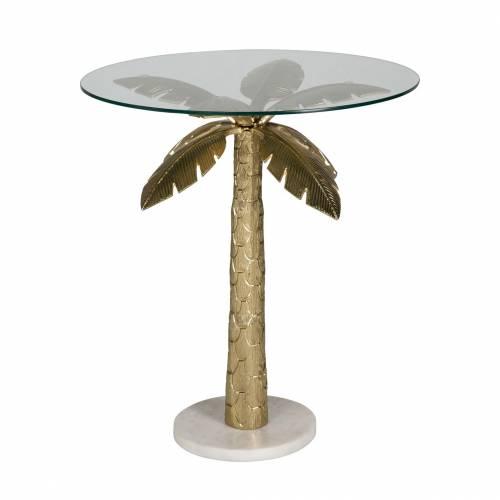 Table d'angle Palm avec du verre Meuble Déco Tendance - 30
