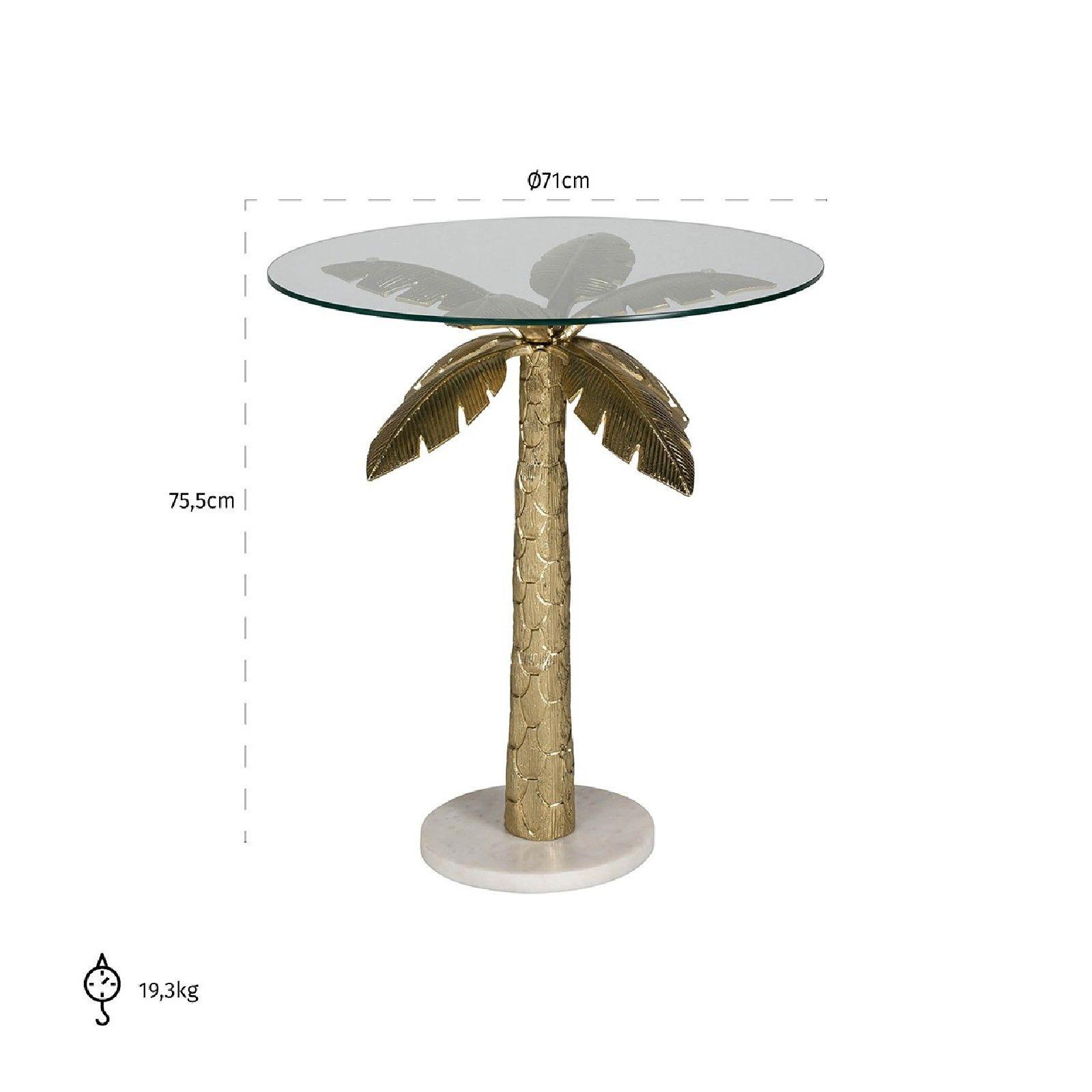 Table d'angle Palm avec du verre Meuble Déco Tendance - 111