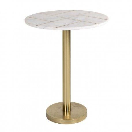 Table d'angle Cody avec du marbre