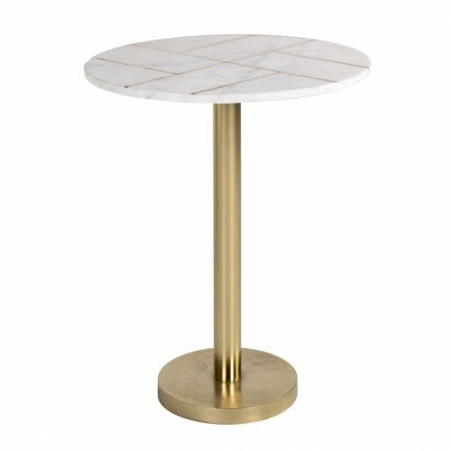 Table d'angle Cody avec du marbre Meuble Déco Tendance - 13