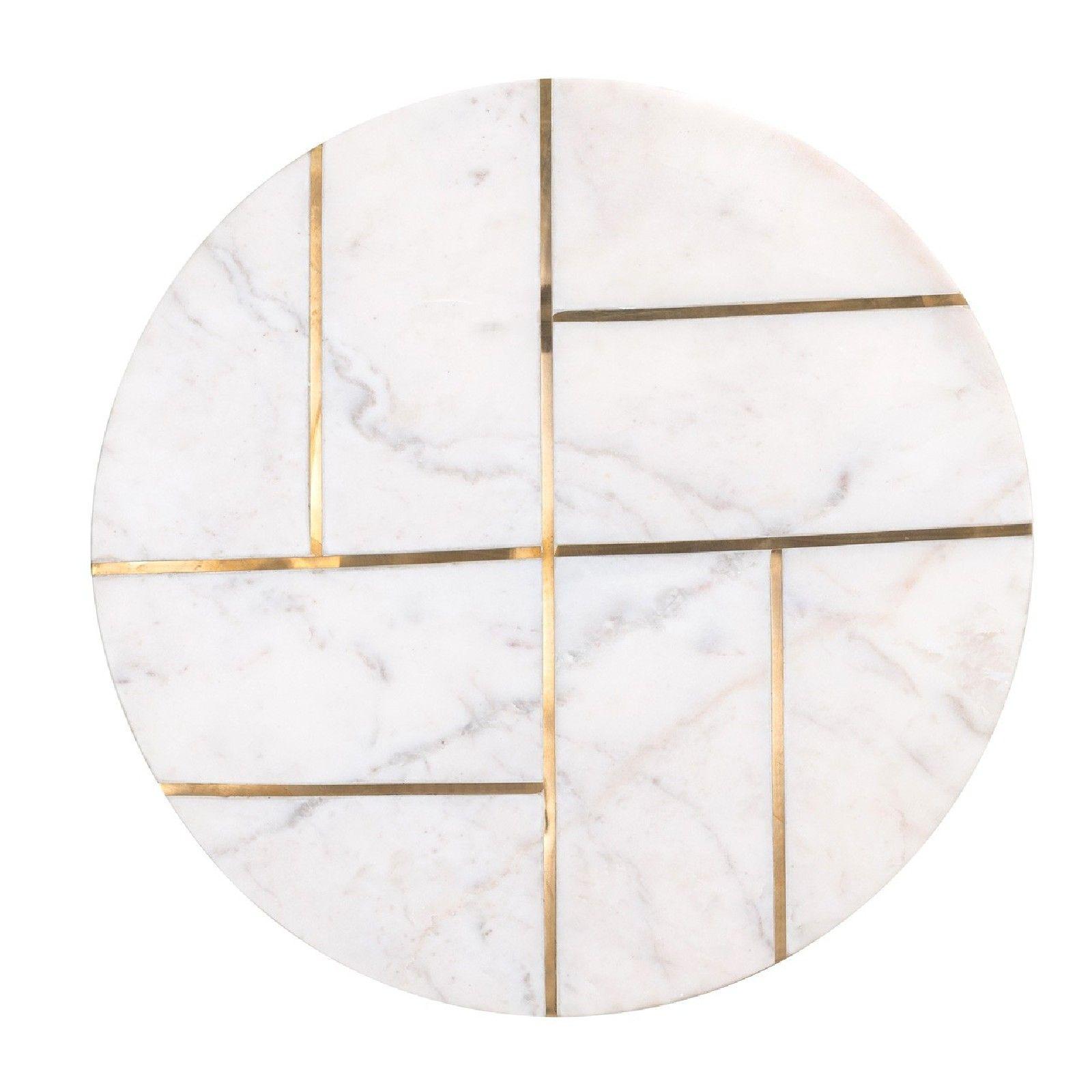 Table d'angle Cody avec du marbre Meuble Déco Tendance - 84