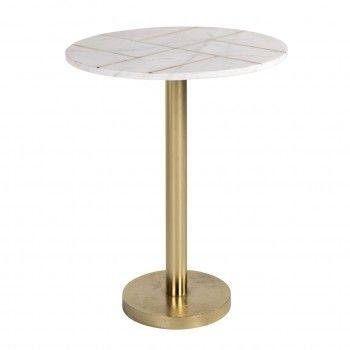 Table d'angle Cody avec du marbre Meuble Déco Tendance - 129