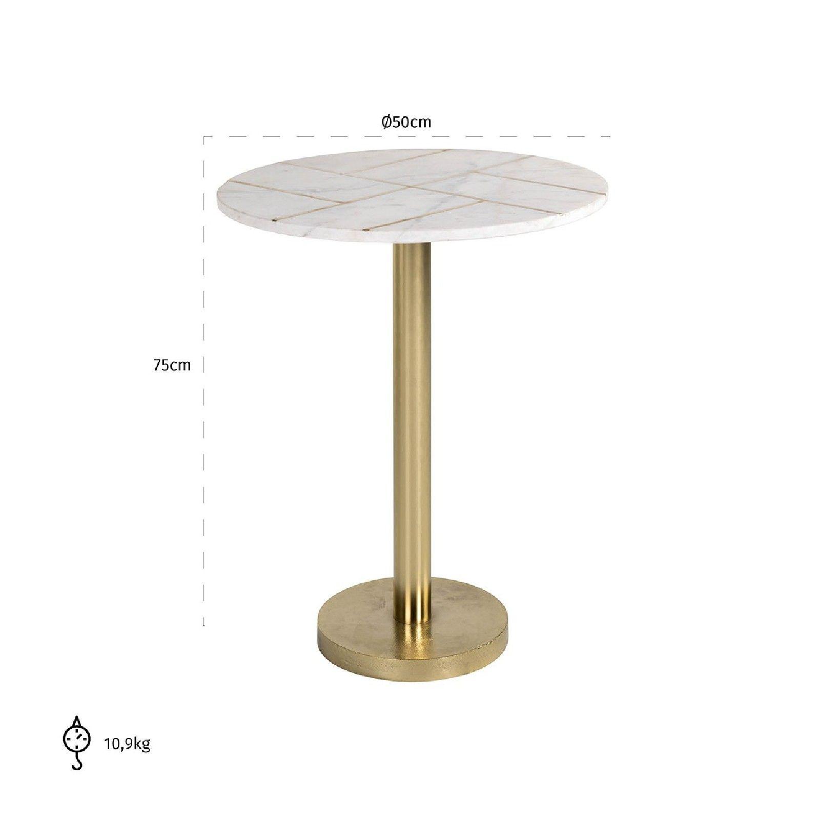 Table d'angle Cody avec du marbre Meuble Déco Tendance - 136