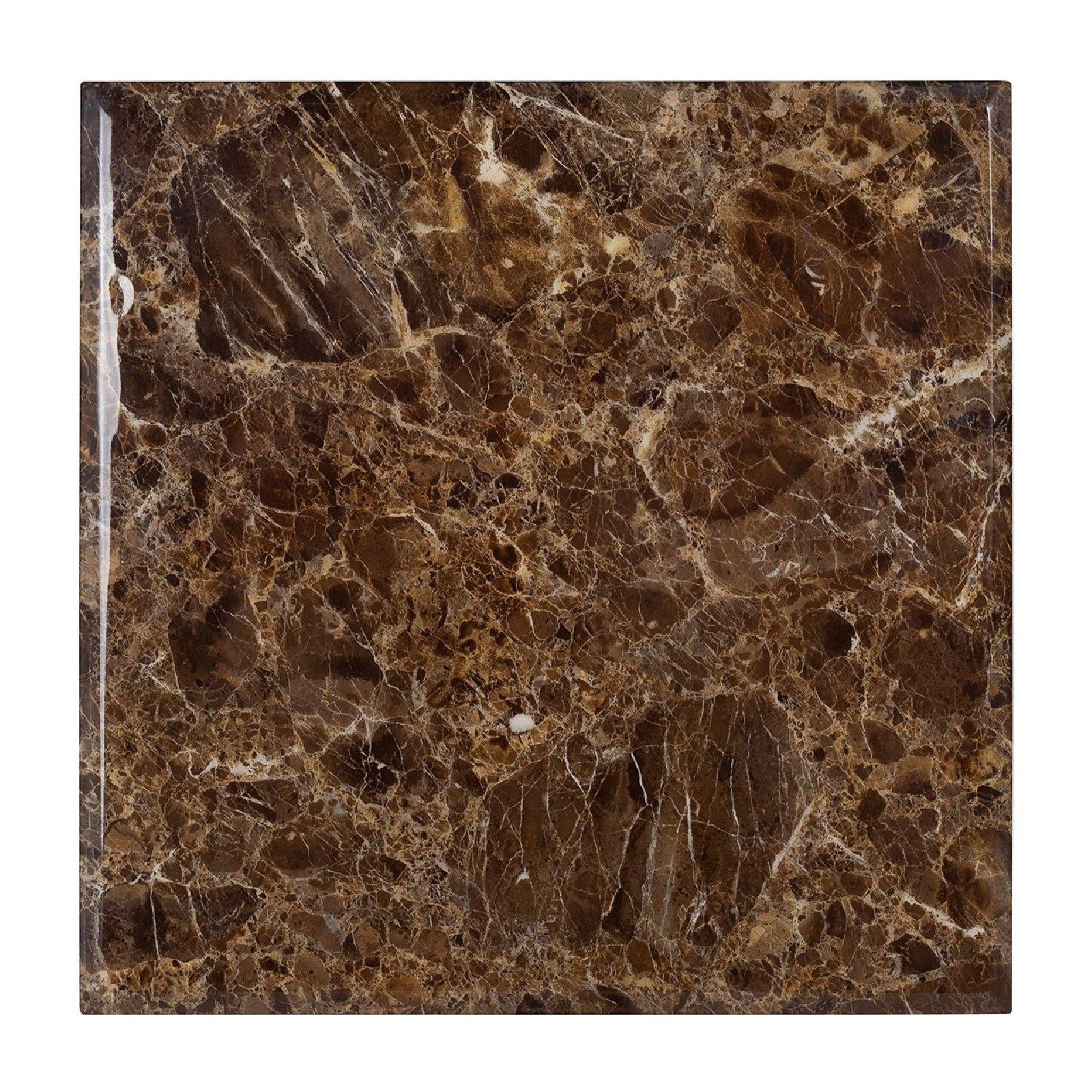 Table d'angle Conrad faux emperador marbre Meuble Déco Tendance - 91