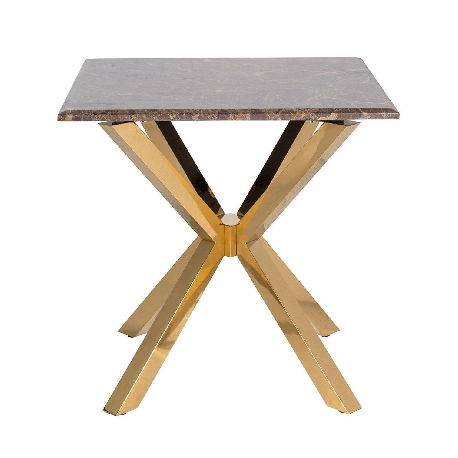 Table d'angle Conrad faux emperador marbre Meuble Déco Tendance - 94