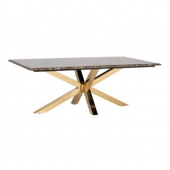 Table de salon Conrad faux emperador marbre Tables basses rectangulaires - 23