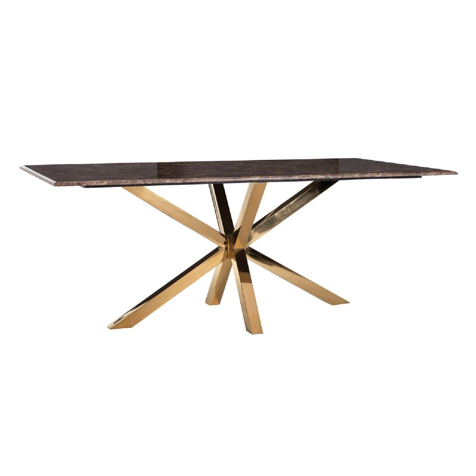Table a manger Conrad faux emperador marbre Meuble Déco Tendance - 17