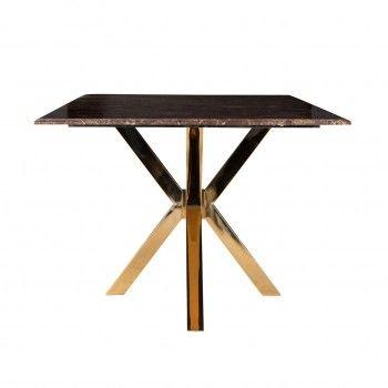 Table a manger Conrad faux emperador marbre Meuble Déco Tendance - 88