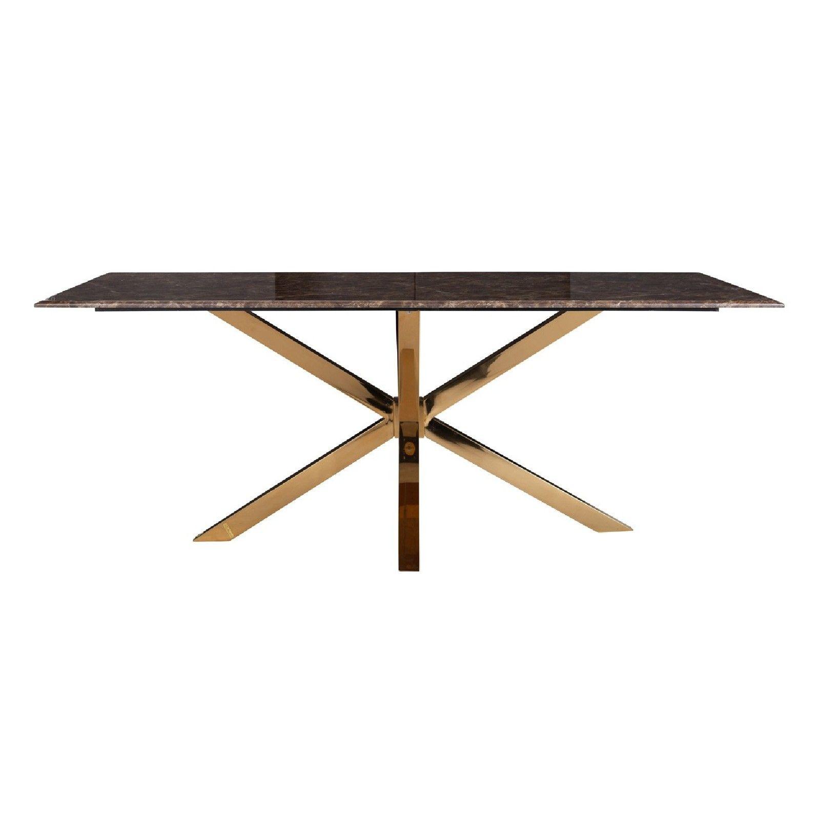 Table a manger Conrad faux emperador marbre Meuble Déco Tendance - 140