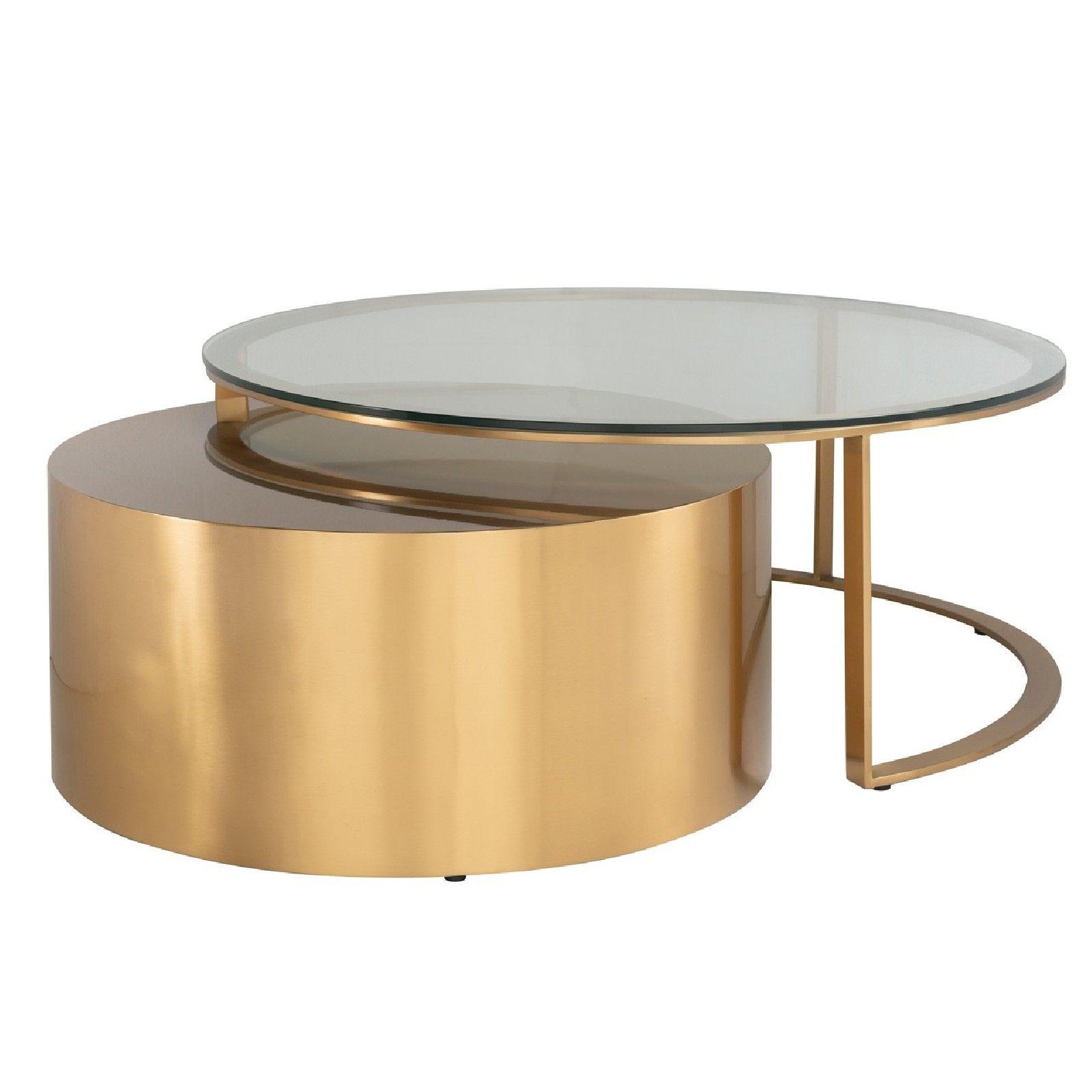 Table de salon Orlan set de2 Tables basses rondes - 28