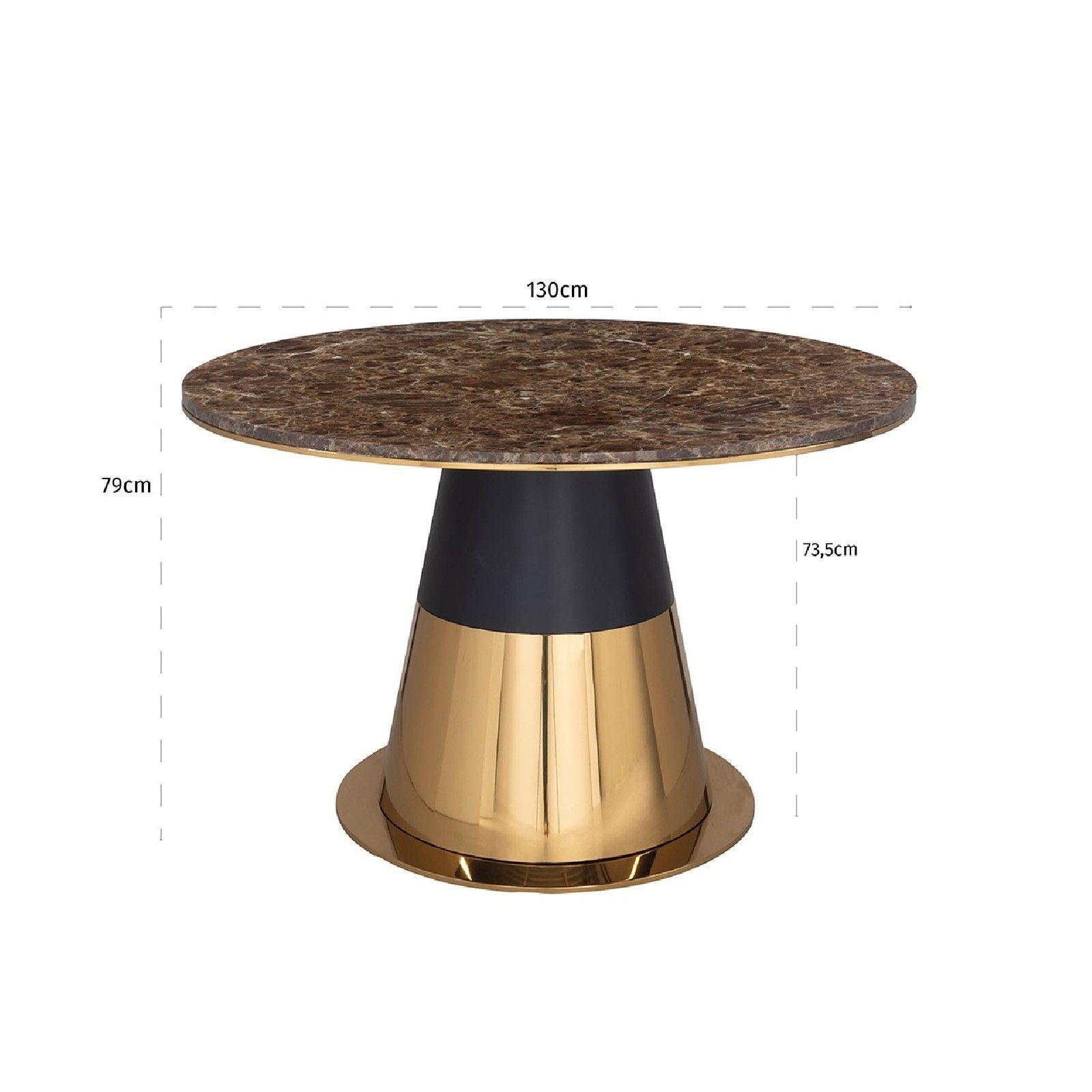 Table a manger Rollos ronde 140Ø Meuble Déco Tendance - 101