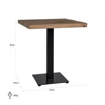 Table à dîner Gastronomy 70x70, un pied square Meuble Déco Tendance - 210