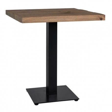 Table à dîner Gastronomy 80x80, un pied square