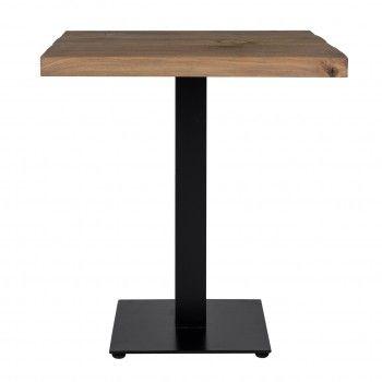 Table à dîner Gastronomy 80x80, un pied square Meuble Déco Tendance - 195